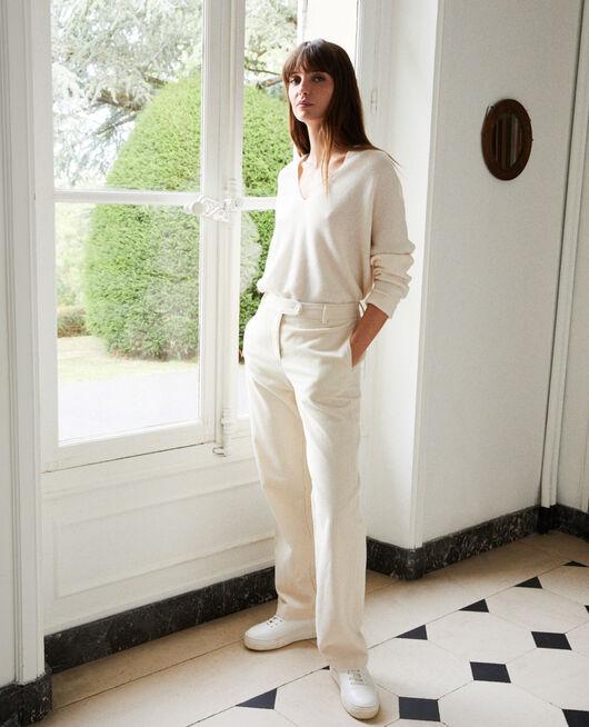Pantalón de pana OFF WHITE