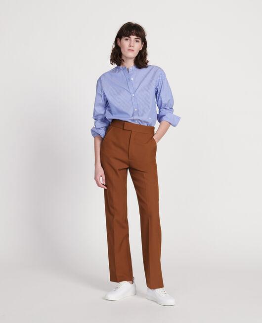 Pantalón recto de lana lisa MONKS ROBE