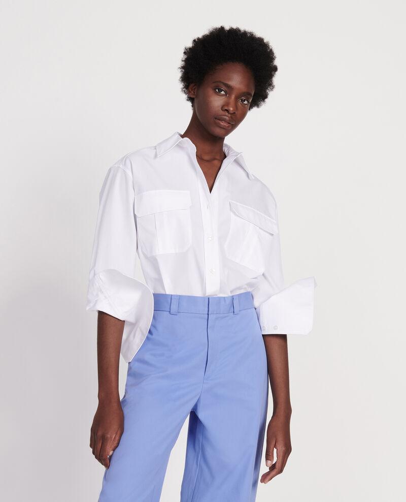 Camisa de popelina de algodón Optical white Lauryl
