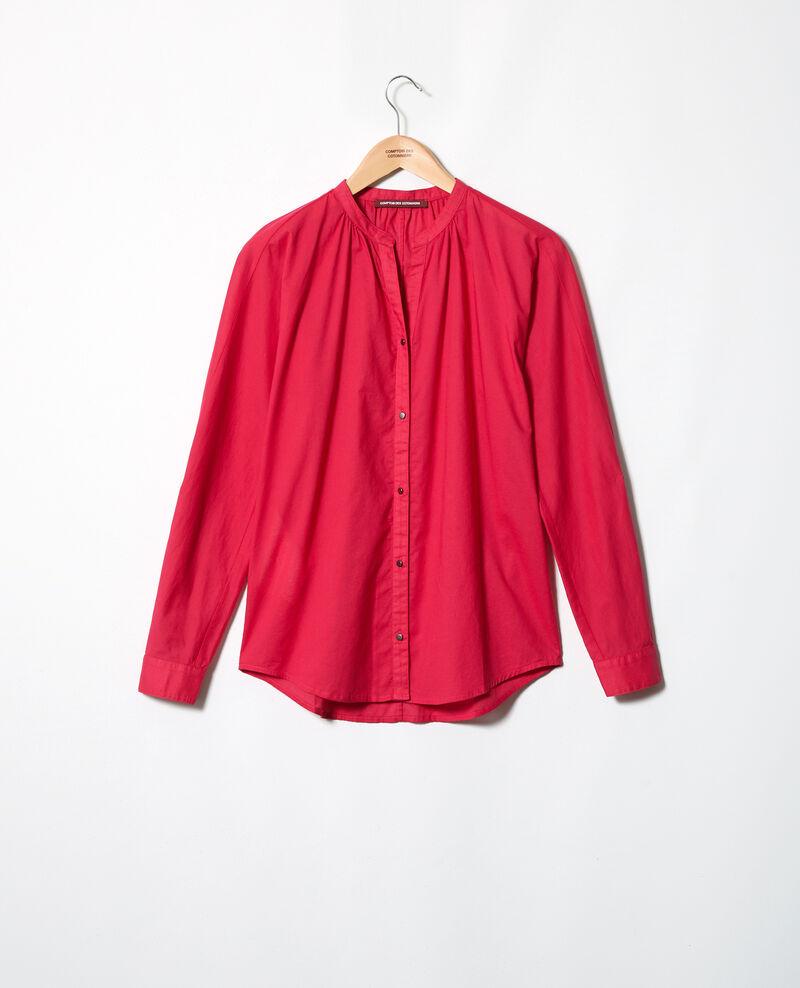 Blouse en voile de coton Fushia Ianta
