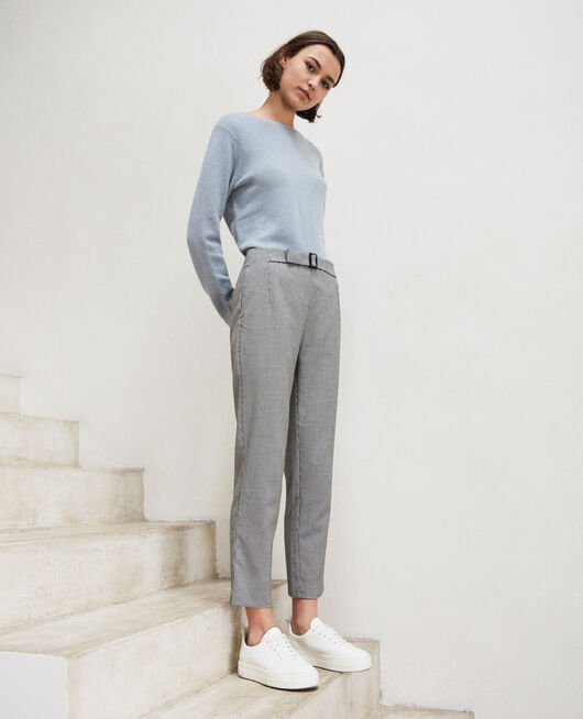 Pantalón de corte recto CHAMPAGNE/NOIR