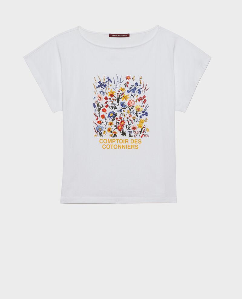 Camiseta de algodón manga corta Brilliant white Marcelin