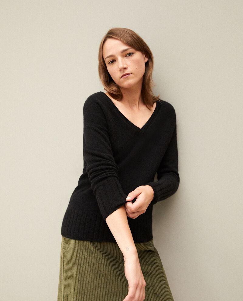 Jersey de cachemir Noir Guerin
