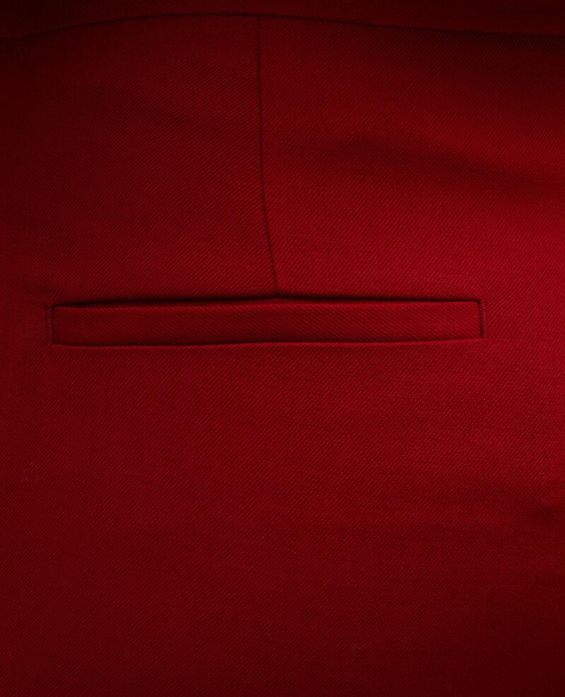 Pantalón MARGUERITE, 7/8 cigarrette de lana Royale red Moko