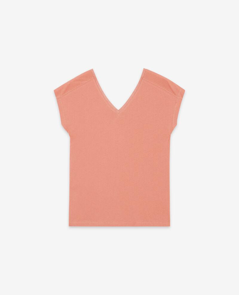 Camiseta con detalles de lúrex Pink Dactylo