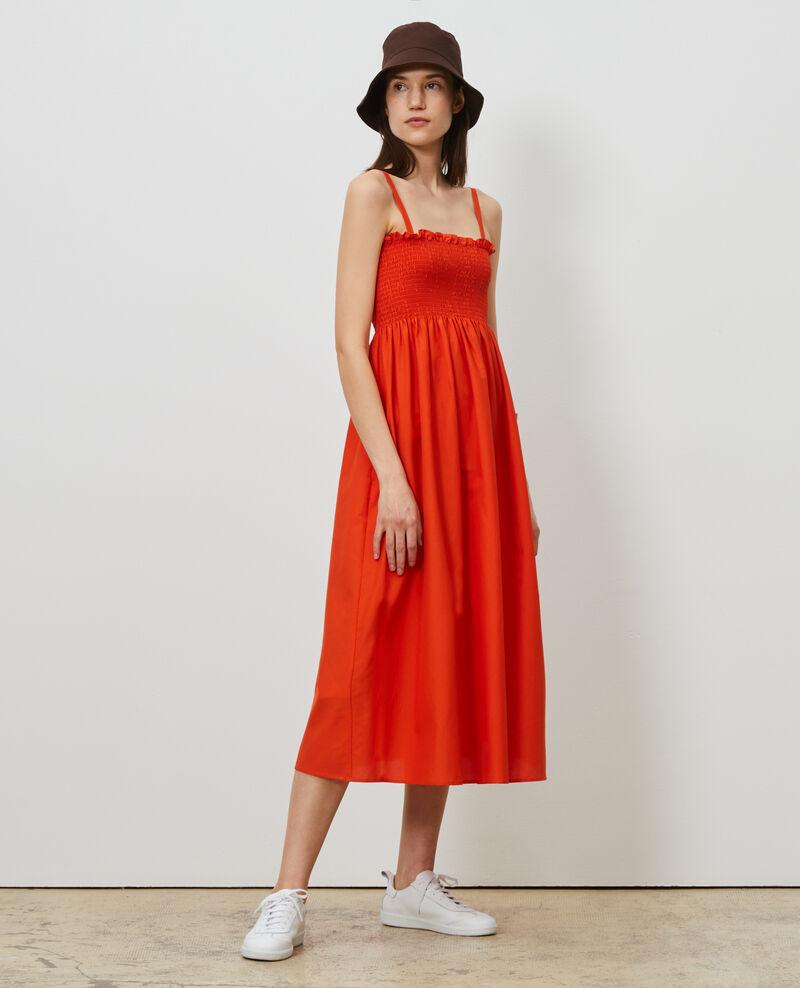 Vestido largo de algodón y seda Pureed pumpkin Nassandrou