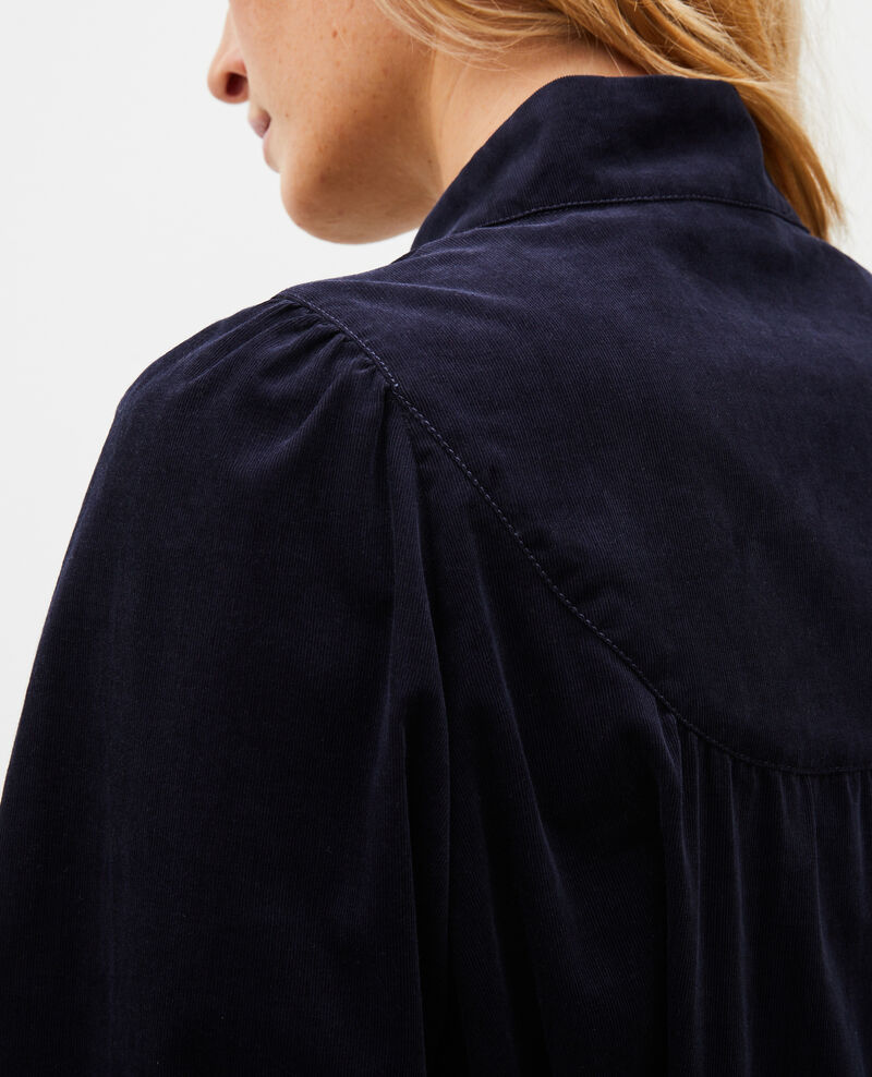 Camisa de terciopelo con pechera Night sky Miglos