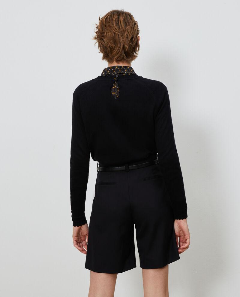 Jersey de seda y algodón Black beauty Nita