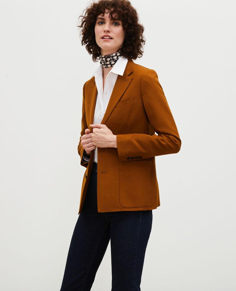 Blazer ligero de lana lisa Monks robe Luscade