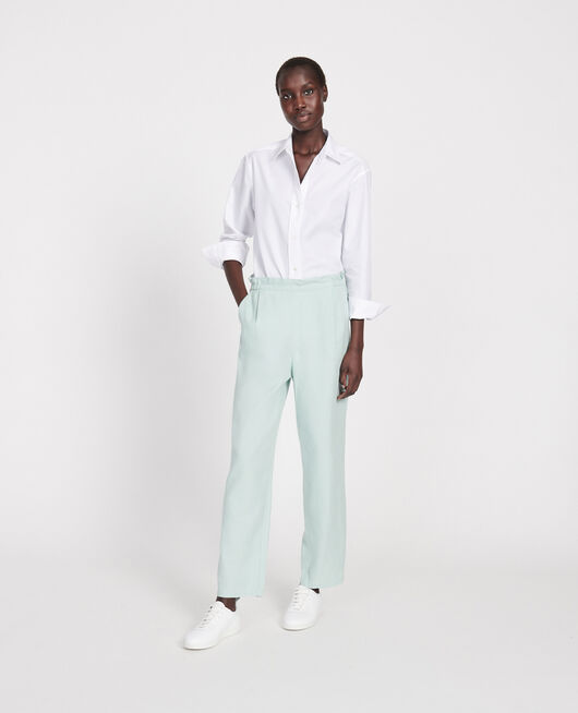 Pantalón con lino y algodón BLUE HAZE