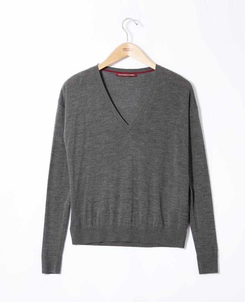Jersey de lana merino Gris Garago