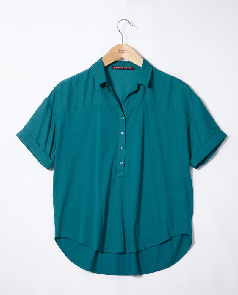 Camisa de doble tejido Harbor blue Gaite