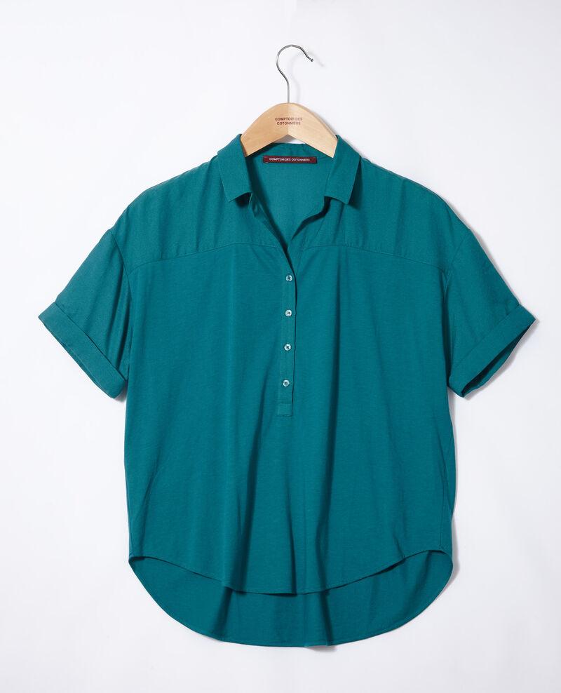Camisa de doble tejido Harbor blue Gaite
