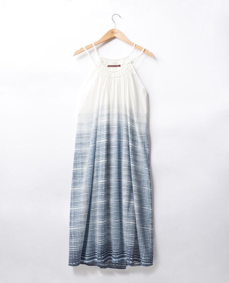 Vestido con finos tirantes Tie&dye washed blue Fummer