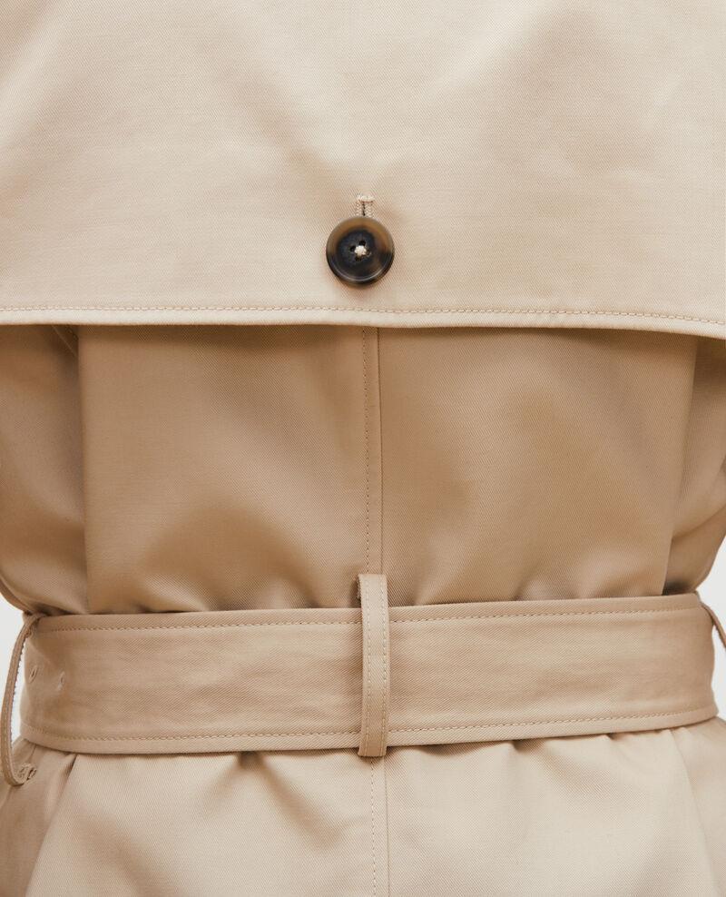 CATHERINE - Trench icónico de algodón Smoke gray Lambert