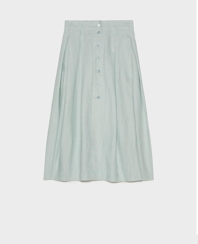 Falda larga de lino Blue haze Lorlange