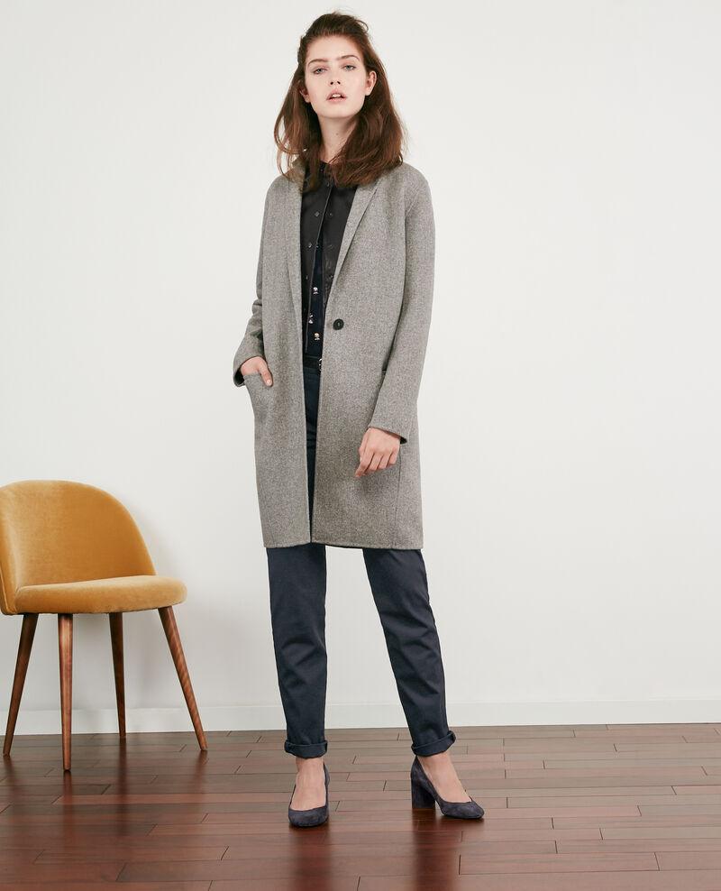Abrigo de lana con doble cara Medium heather grey 9dexpresso