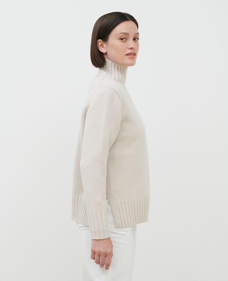 Jersey de lana con anchos canalés Rainy day Parques