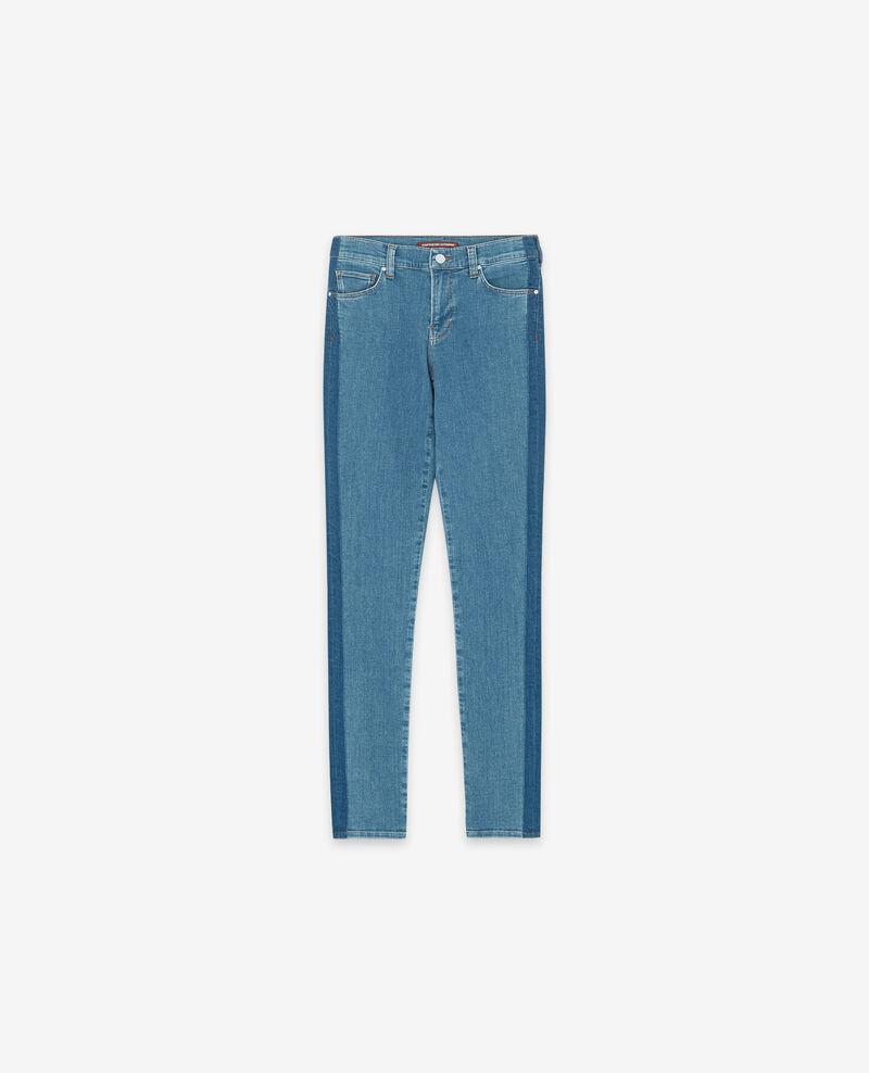 Jeans cigarette de doscolores Indigo stripe Disquaire