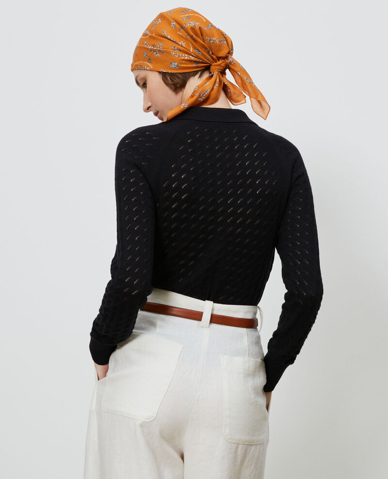 Cárdigan de algodón y lino Black beauty Novo