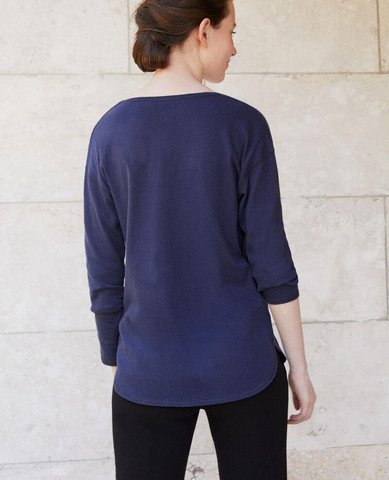 Camiseta de algodón Peacoat Gonia