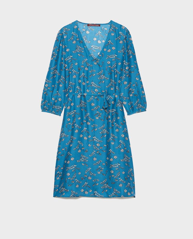 Vestido amplio de seda Coronille faience Novis