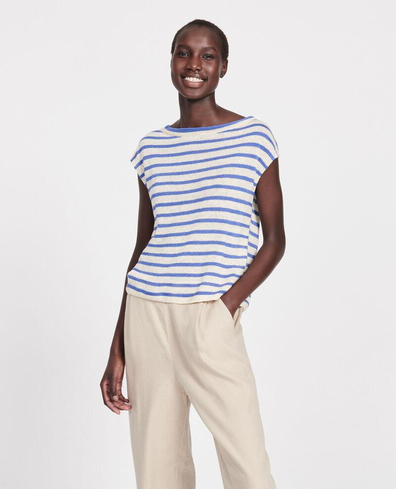 Camiseta de lino con tirantes Str butter amparo Lagni