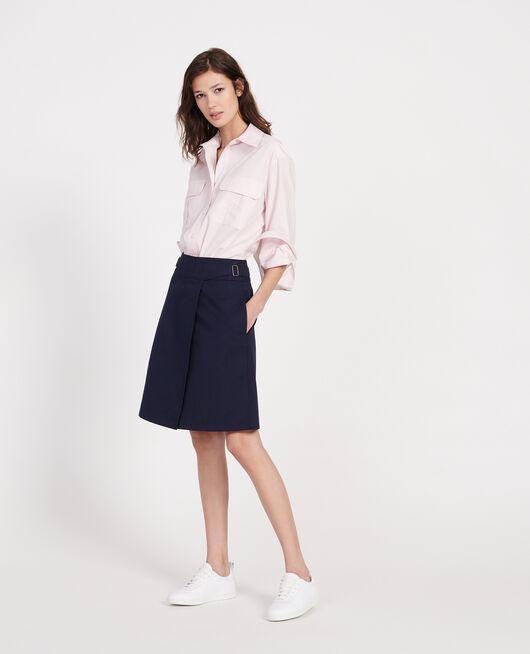 Falda cruzada de algodón MARITIME BLUE