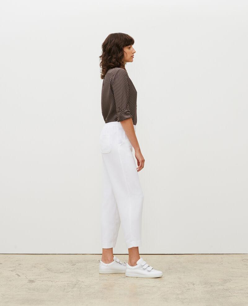 Pantalón fluido elástico Optical white Luant