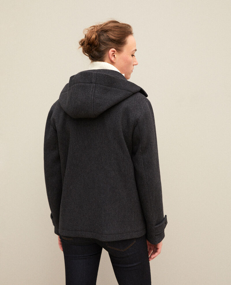 Abrigo corto estilo trenca Dark heather grey Gouziern