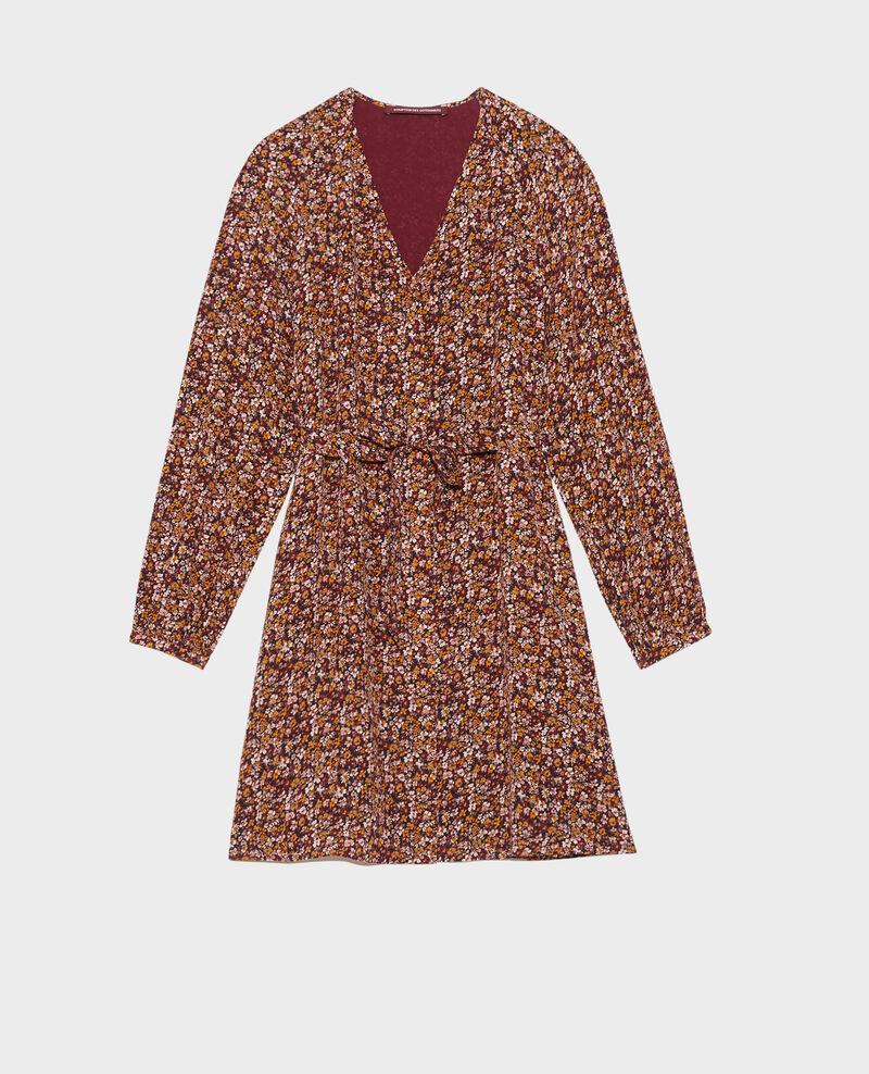 Vestido corto de seda Liberty cabernet Pavishy