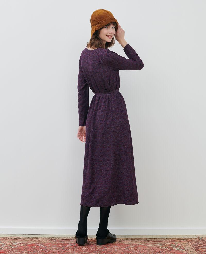 Vestido largo de seda Paisley purple Paarsa