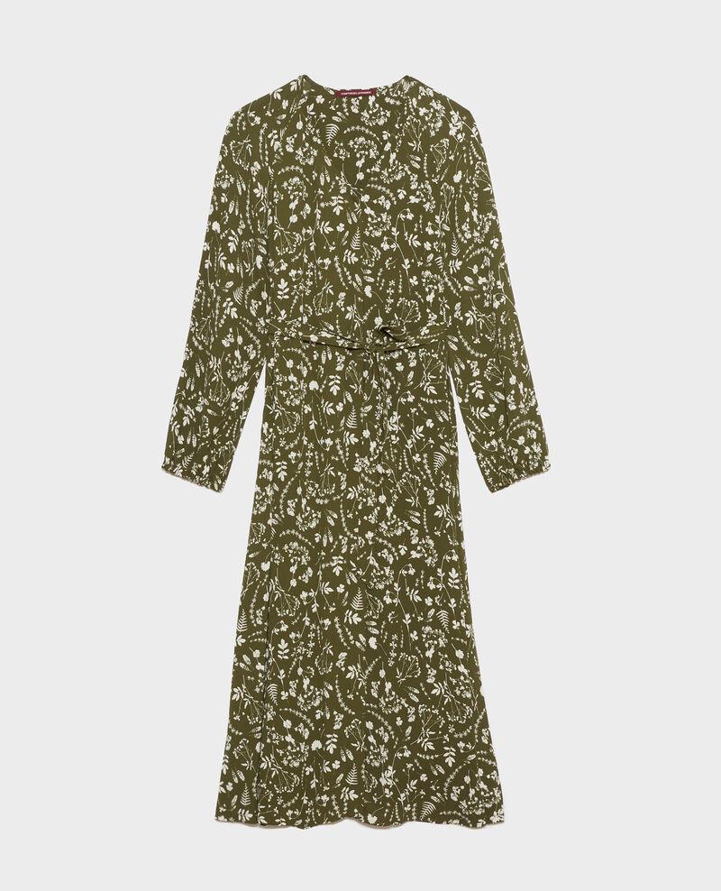 Vestido largo estampado Cyanotype olive Pavish