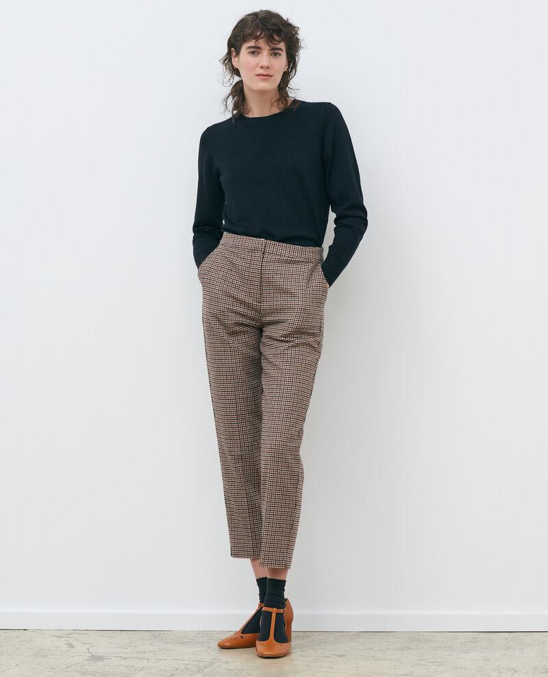 Jersey cuello redondo de lana Black beauty Passy