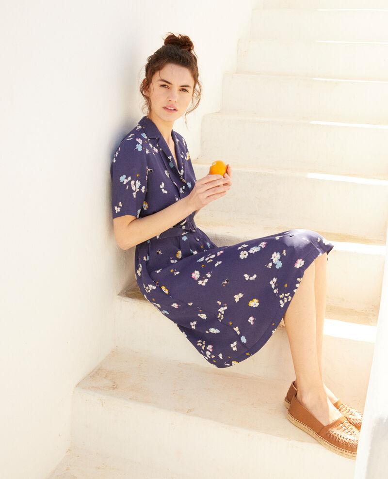 Vestido estampado Dry flower navy 9illara