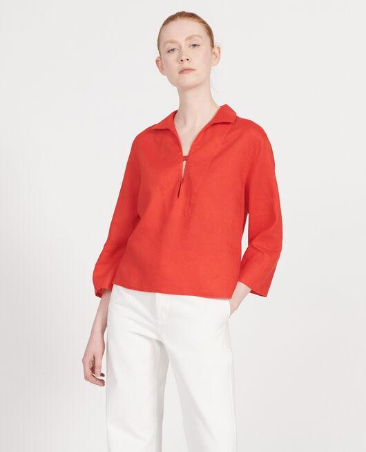 Blusa de lino FIERY RED