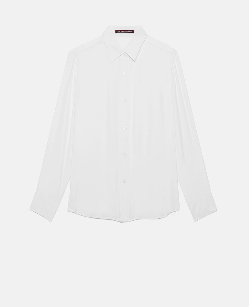 Camisa de seda Optical white Loriges