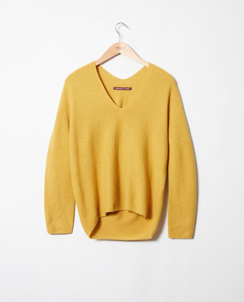 Jersey con cuello de pico de 100% cachemir Sauterne Jonka