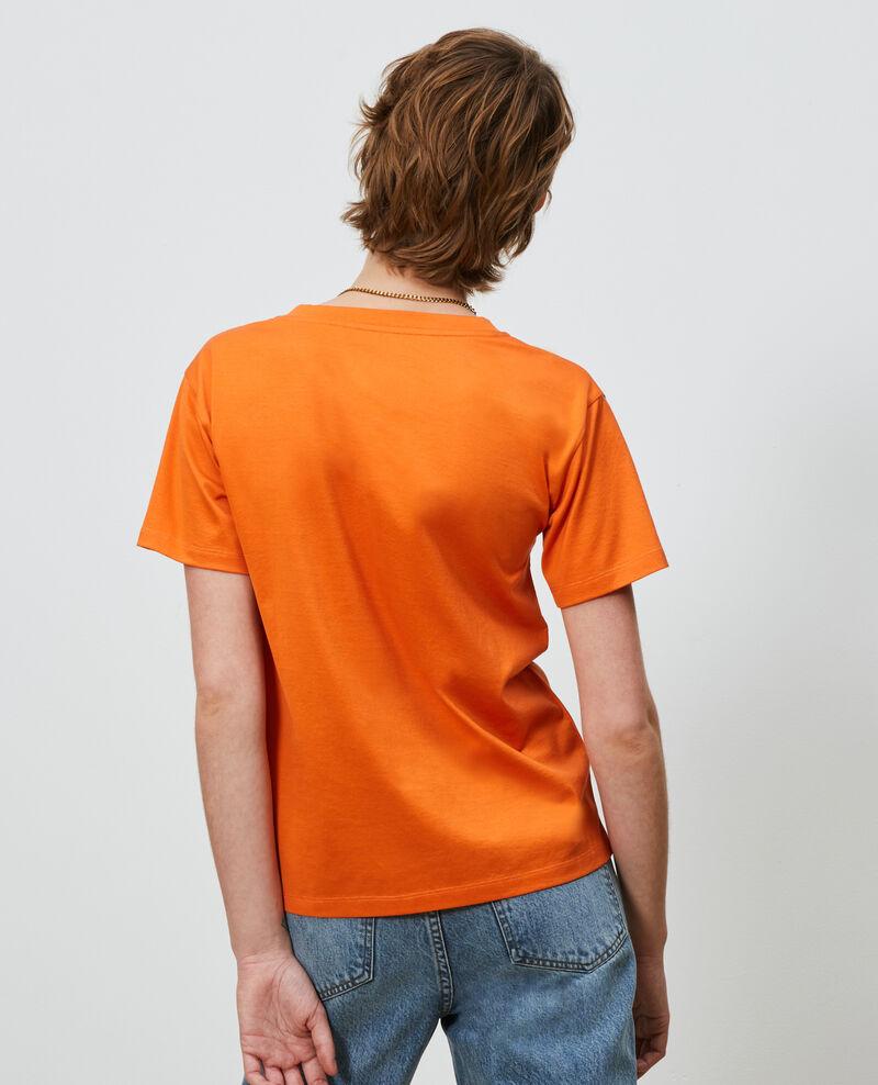 Camiseta bordada de algodón Harvest pumpkin Nagaoka