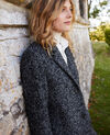Abrigo de tweed Grey melange Judit