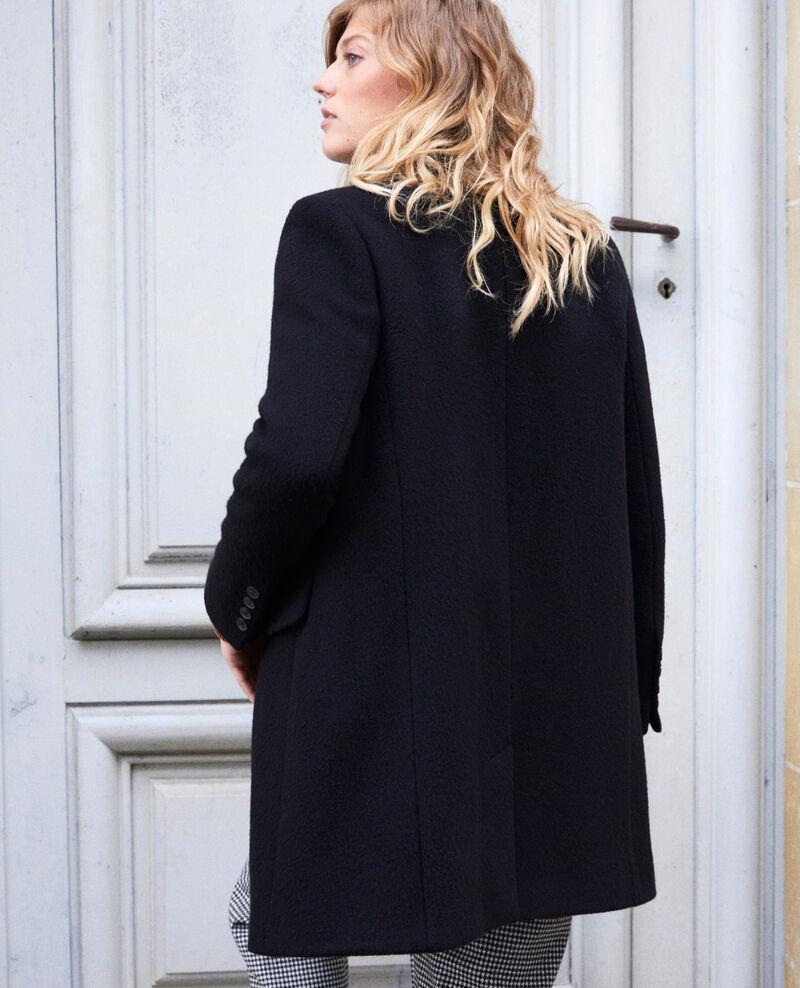 Abrigo con cuello sastre Noir Jasmere
