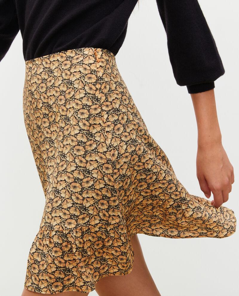 Falda corta estampada de seda Print artdeco lemoncurry Mada