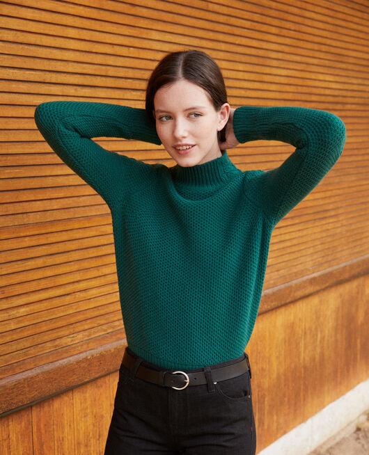 Jersey de lana con detalle de trenza EVERGREEN