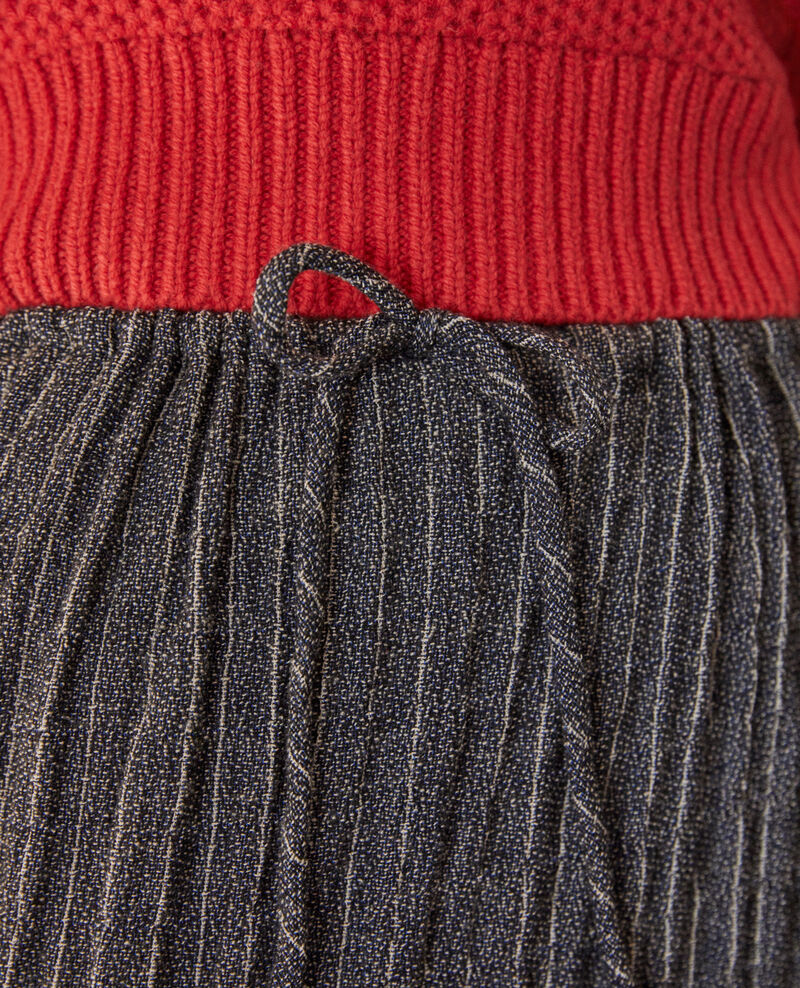 Falda plisada efecto arrugado Gris Garachute