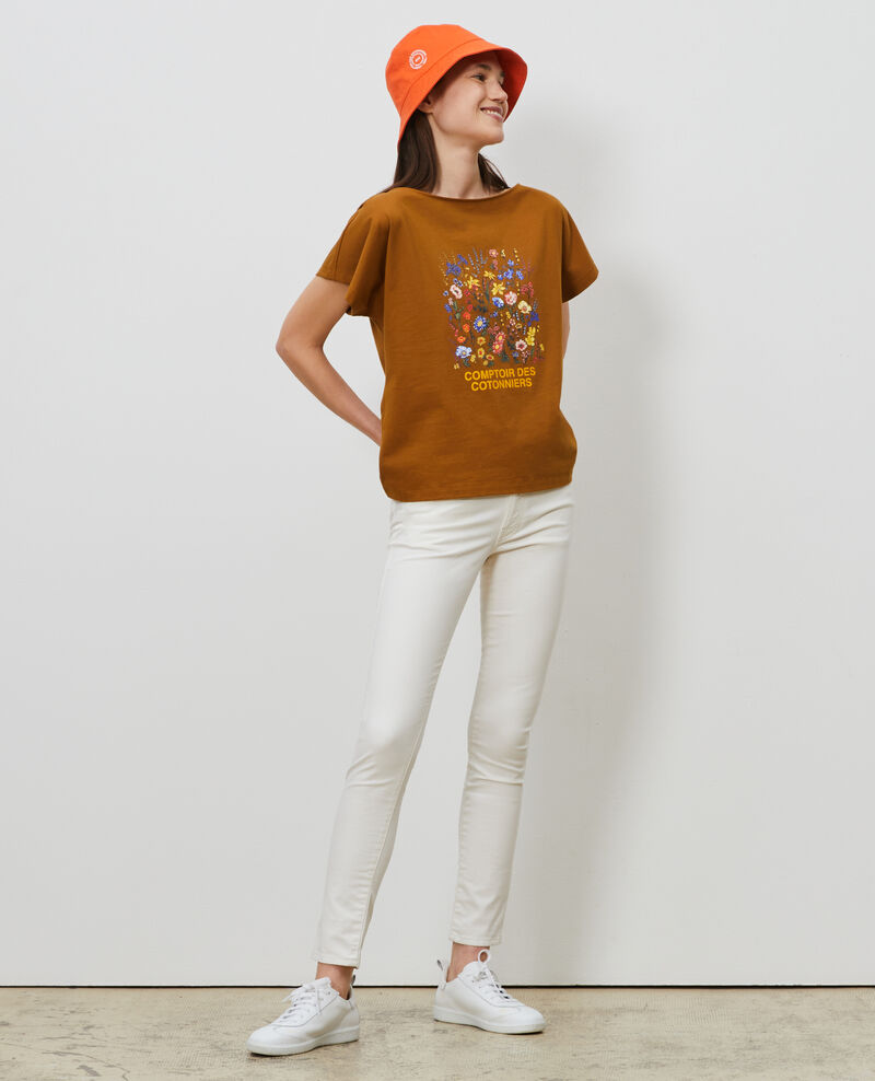Camiseta de algodón manga corta Bronze brown Marcelin