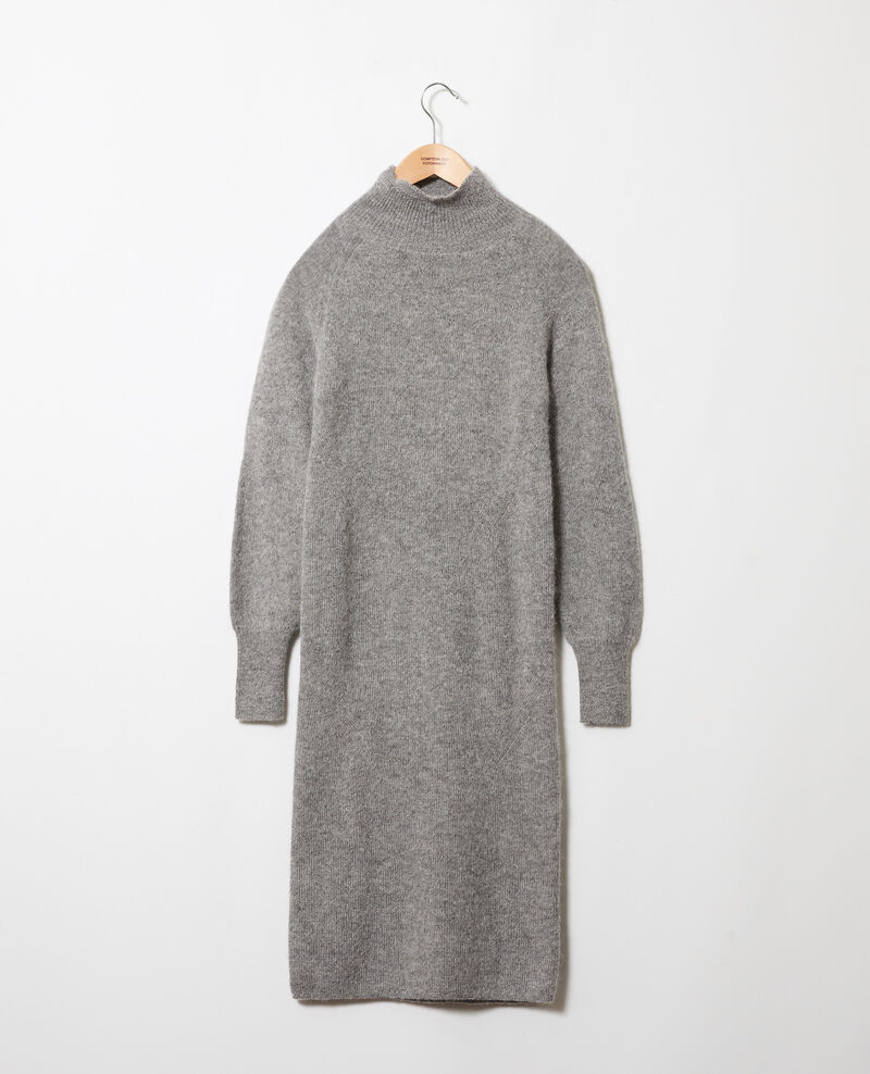 Vestido largo de punto Middle grey Joupalou