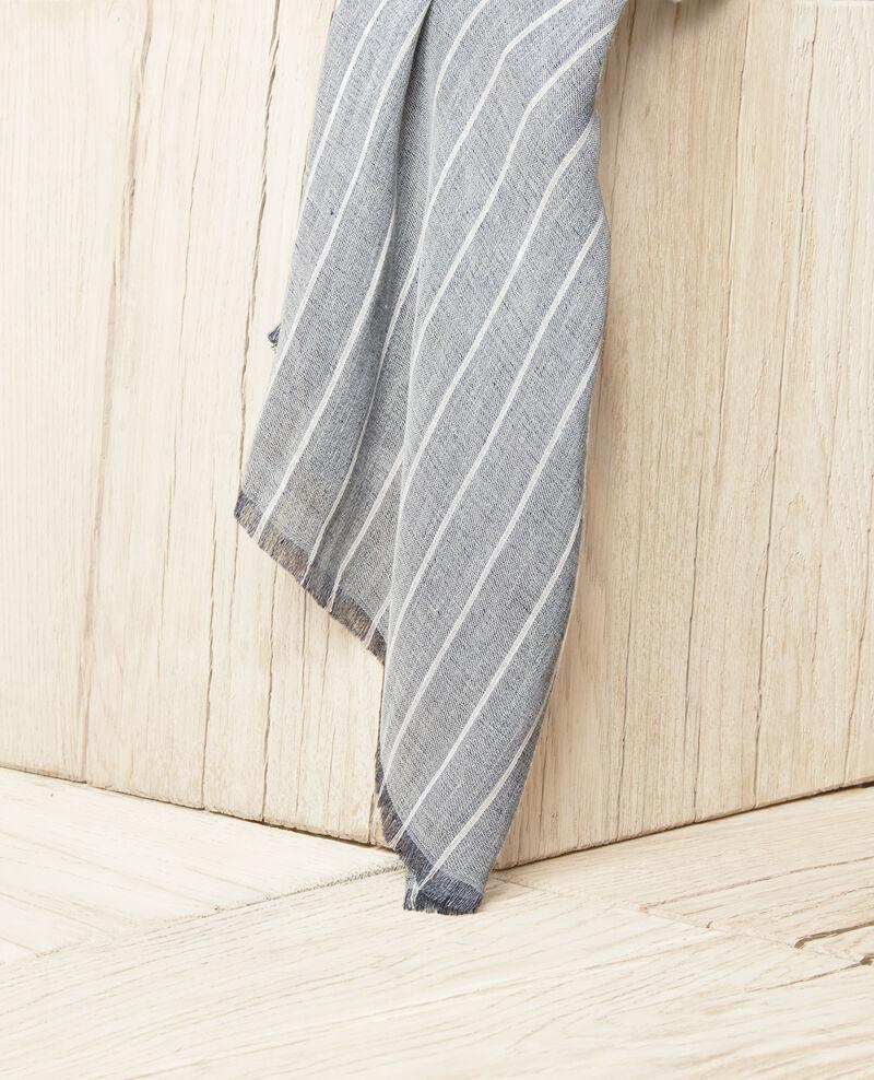 Foulard avec du lin Blue jeans Icla