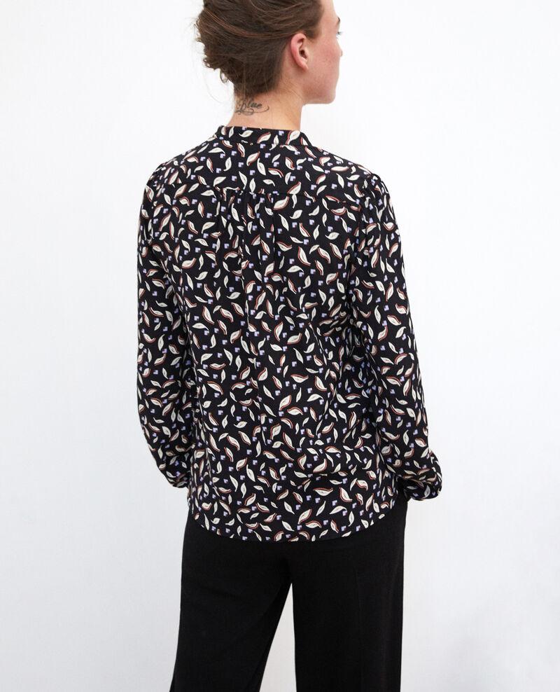 Blusa con cuello tunecino Negro Gaela