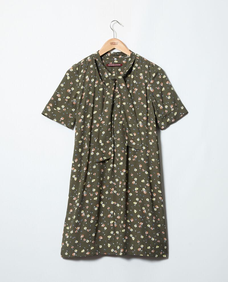 Vestido con lazo lavalière desmontable Coquelicot cheng olive 9iolande