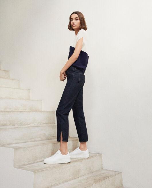 Jeans straight con abertura RINSE